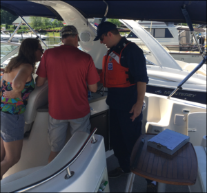 Auxiliary member preforming vessel safety check