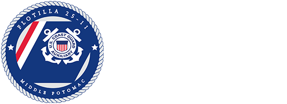 U.S. Coast Guard Auxiliary Flotilla 25-11 Middle Potomac River Area Logo