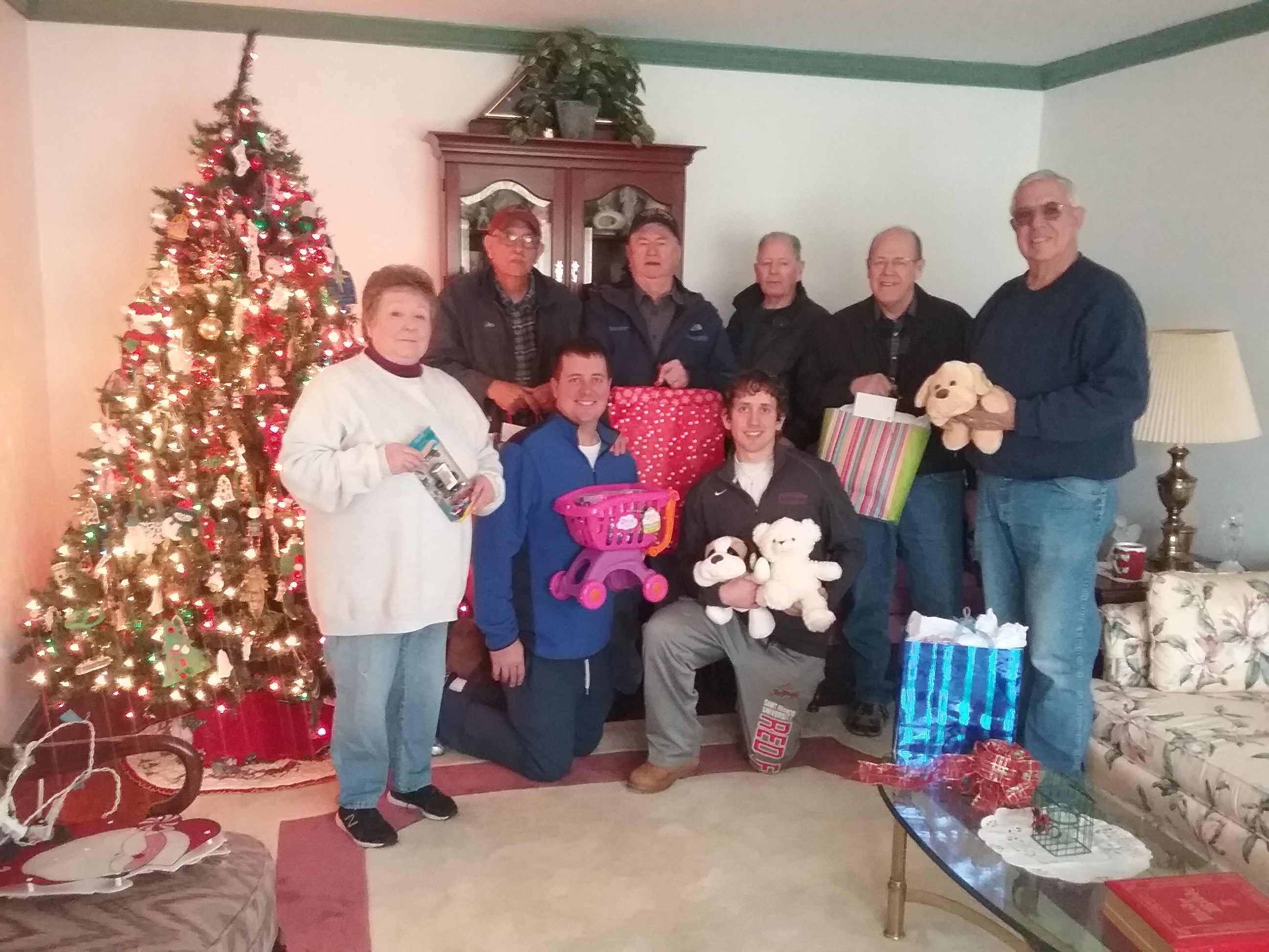 Group photo with presents
